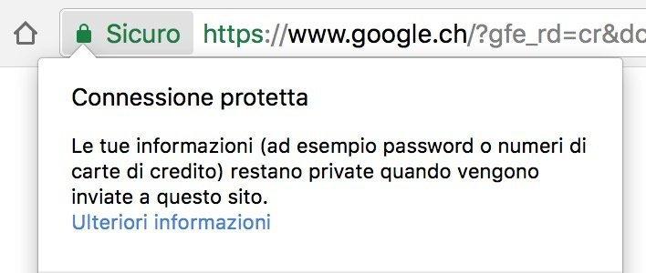 analisi sito sicuro protetto